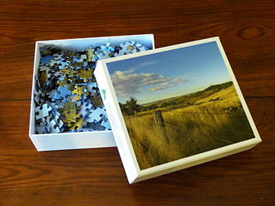 Large Jigsaw Puzzles By The Paddock Paparazzi. 500 pieces.